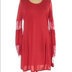 NEW NY Collection Midi Dress, Size XL, Red